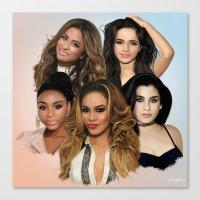 fifth harmony Canvas Prints featuring Fifth Harmony by Aaron Jason