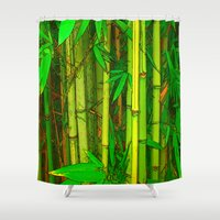 bamboo Shower Curtains featuring Bamboo by Robin Curtiss