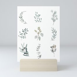 Botanical elements Mini Art Print