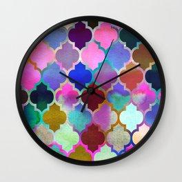 Marrakech Market (mix) Wall Clock