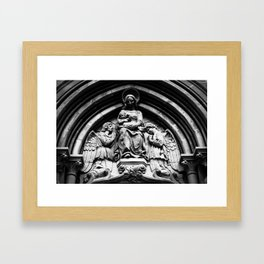 She Waits On High Framed Art Print
