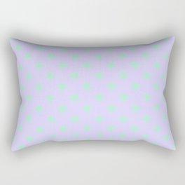 Magic Mint Green on Pale Lavender Violet Stars Rectangular Pillow