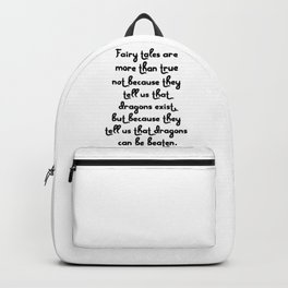 Dragon Fairytales Quote Backpack