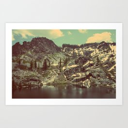 high sierras  Art Print