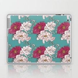 Pink and Red Peonies Laptop & iPad Skin
