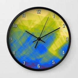 Geometric Surf Wall Clock
