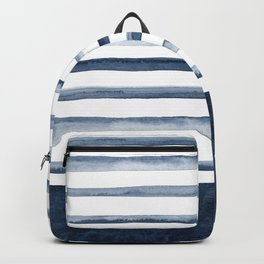 Watercolor Stripes Pattern Backpack