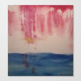 Golden Flight in an Iridescent Pink Sky Canvas Print