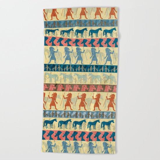 Egyptian Unicorn Pattern Beach Towel