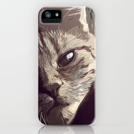 set your cat free vector art natural iPhone Case