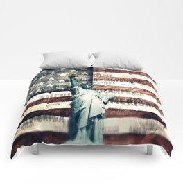 Vintage Patriotic American Liberty Comforters