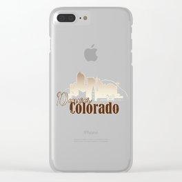 Denver Colorado Grunge Skyline Clear iPhone Case