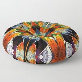 Kaleidoscope. Colorful fractal Floor Pillow