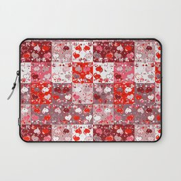 Abstract seamless backgrounds. Patchwork, american countryside style. Laptop Sleeve