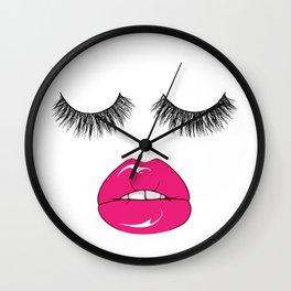 SLEEPY EYES Wall Clock
