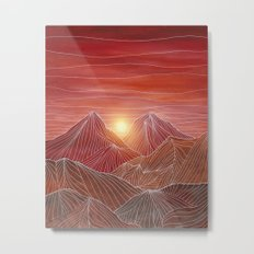Lines in the mountains VI Metal Print