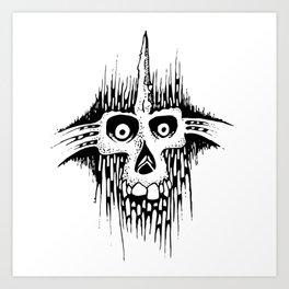 Skully Line Art Print
