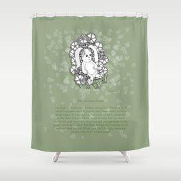 Velveteen Rabbit Wisdom Illustration for Children Shower Curtain