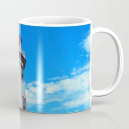 North Cape Lighthouse window wall Coffee Mug