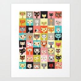 Kitties  Art Print