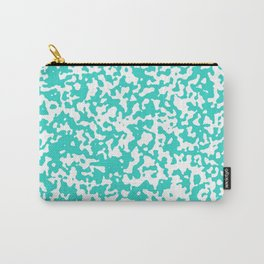Small Spots - White and Turquoise Carry-All Pouch