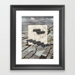 Las ciudades como perros Framed Art Print
