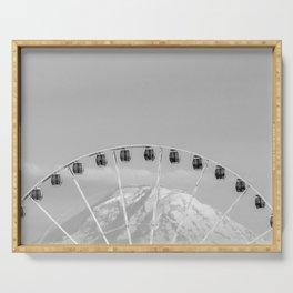 Mount Rainier Ferris Wheel Serving Tray