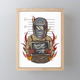 Welder A Bad Attitude Framed Mini Art Print