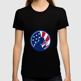 American Private Investigator USA Flag Icon T-shirt