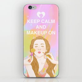 Keep Calm and MakeUp On iPhone Skin