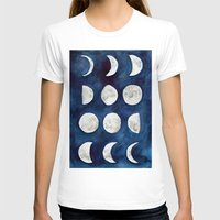 moon phases T-shirts featuring Moon phases by Bridget Davidson