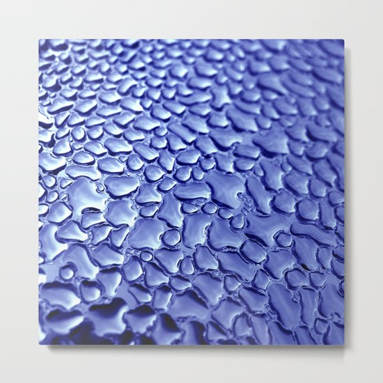 blue water drops IV Metal Print
