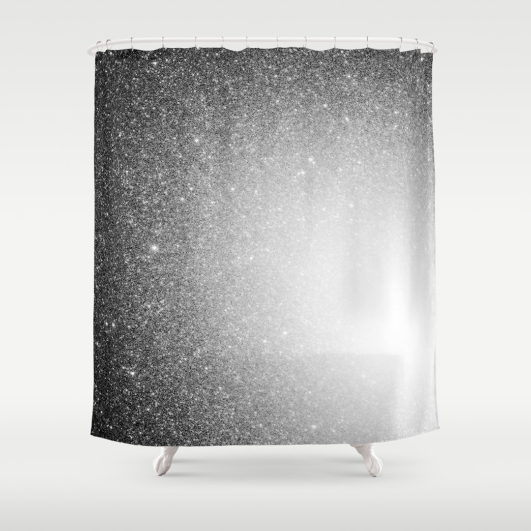 Masculine Shower Curtains   Society6. Black And Cream Shower Curtain. Home Design Ideas