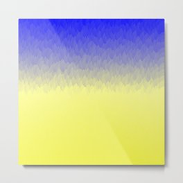 Sky and Sun -- Blue yellow ombre flames Metal Print