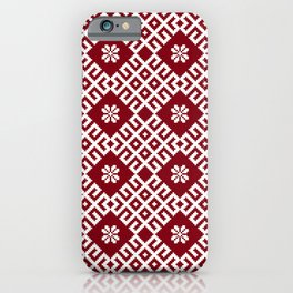 Latvian Pattern iPhone Case