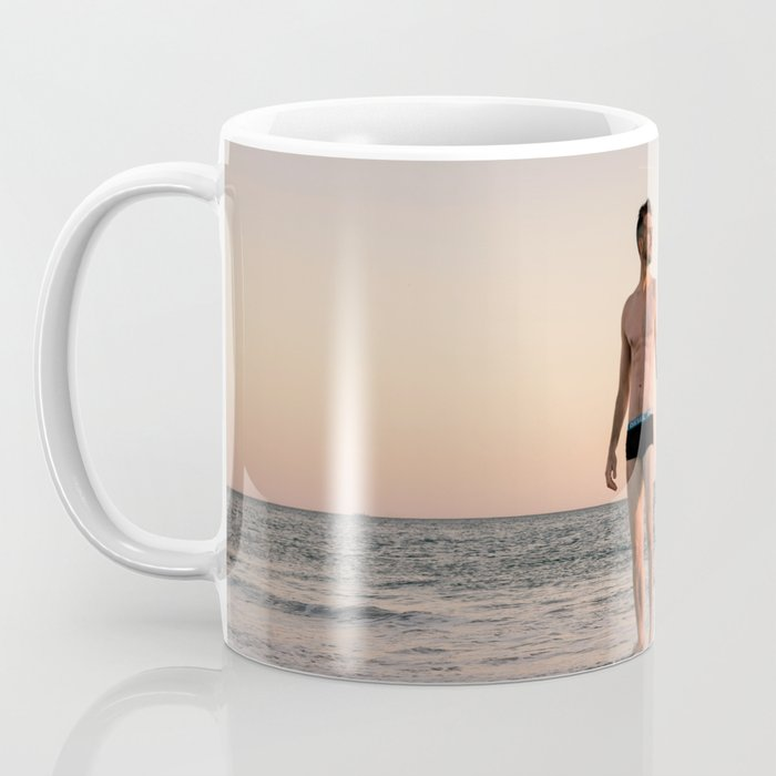 Man, Late Summer at Brighton Beach Coffee Mug