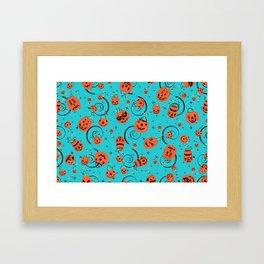 Halloween Magic- Turquoise Framed Art Print