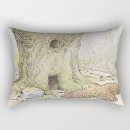 Owl and a Tree House Rectangular Pillow