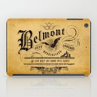 castlevania iPad Cases featuring Belmont Pest Control Specialists by Greg Barnes