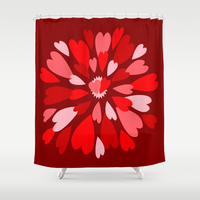 Love Is / Hearts Galore Shower Curtain
