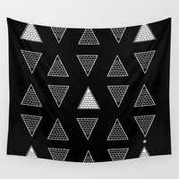 triangle Wall Tapestries featuring Triangle by Emmanuelle Ly