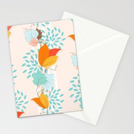 Ivy Floral Pattern Stationery Cards