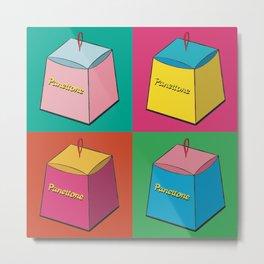 Pop Art Panettone Metal Print