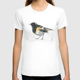 Hihi, New Zealand native Stitchbird T-shirt