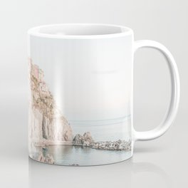 Positano, Italy Amalfi coast pink-peach-white travel photography in hd Coffee Mug