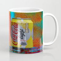 coke Mugs featuring Groovy Coke by BOG Design