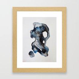 Sea Stones - Watercolor Framed Art Print