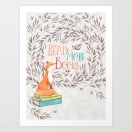 Read More Books - Fox Art Print