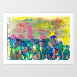 6 Penny the Pink Elephant Art Print