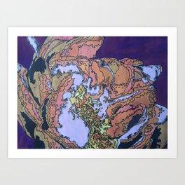 Batik Flower Art Print